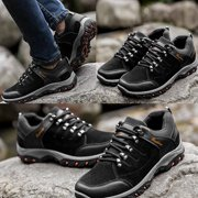 Black Sport Shoes Cn3Sk020 Outdoor Cotton Hiking Boots Sport Men'S Shoes For Camping Climbing