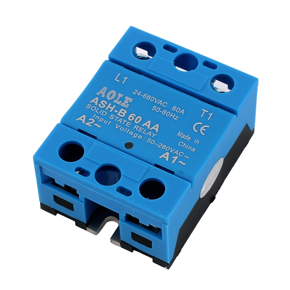 ASH-B60AA 50-280VAC to 480VAC 60A Single Phase Solid State Relay AC to AC Relay