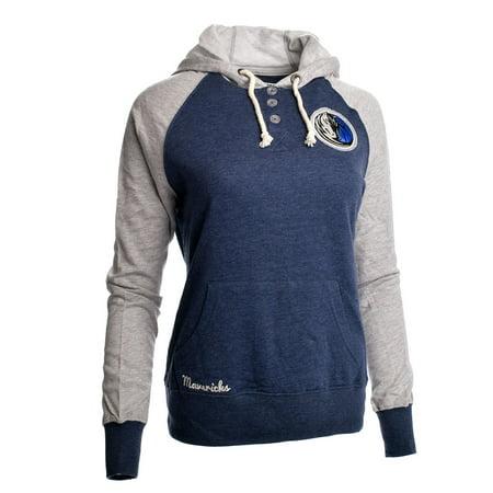Dallas Mavericks Womens Overtime Madness Fleece Pullover Jacket (Navy) by