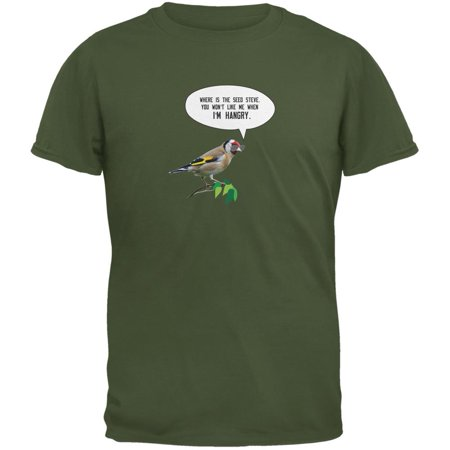 Where's the Seed Military Green Adult T-Shirt