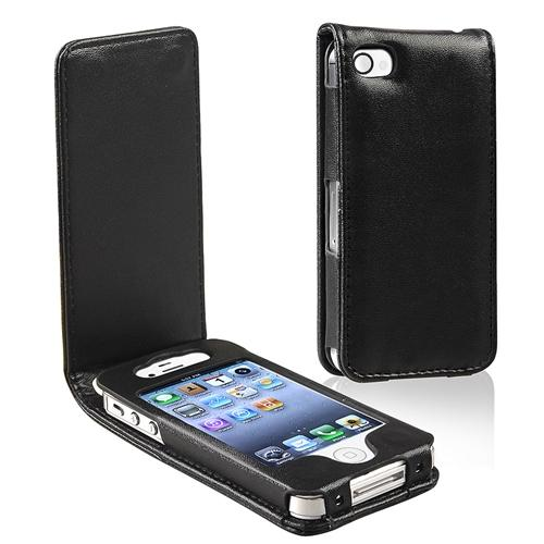 INSTEN Leather Case For Apple iPhone 4 / 4S, Black