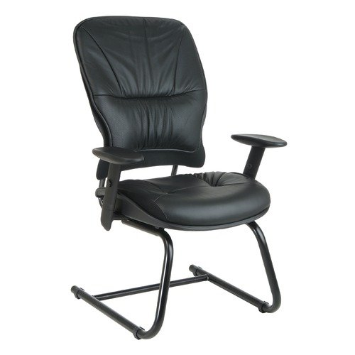 Office Star Products SPACE Leather Guest Chair