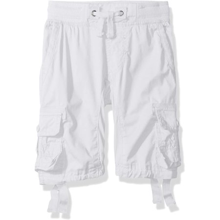 Southpole Little Boys' Solid Twill Cargo Jogger Shorts, White, Medium - image 1 de 1