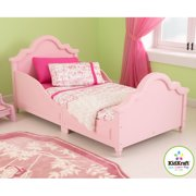 KidKraft Raleigh Wood Toddler & Kids Cot / Bed with Side Rails - Pink 86944