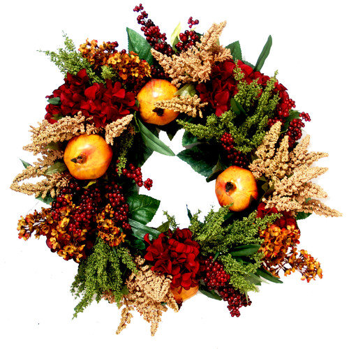 Creative Displays, Inc. Pomegranate Harvest Floral Wreath