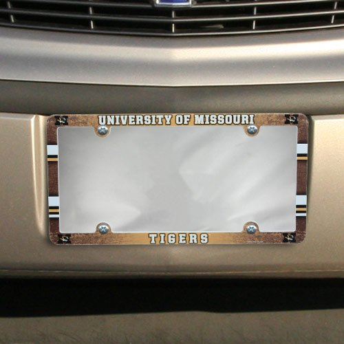 NCAA License Plate with Full Color Frame, Missouri Tigers