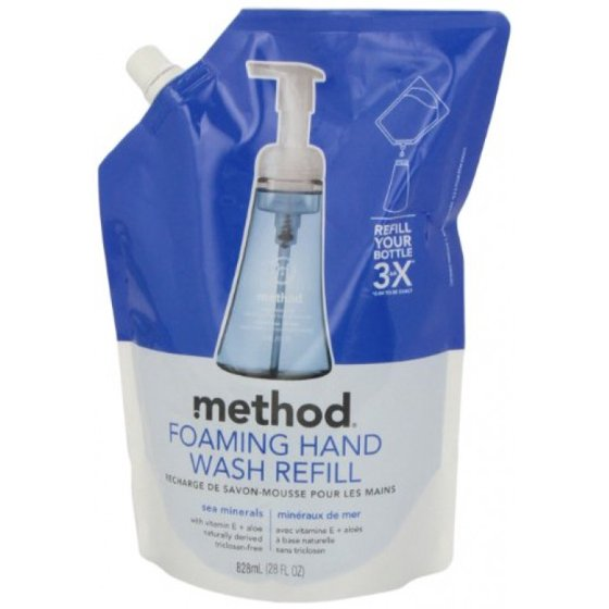 0ede318dd0c6 Method Foaming Hand Wash Refill Pouch, Sea Minerals, 28 oz