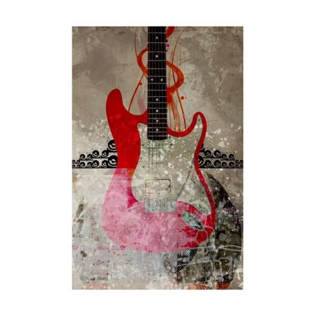 Abstract Guitar Wall - Electric Guitar Against Abstract Background Laminated Print Wall Art By Adrian Bradbury