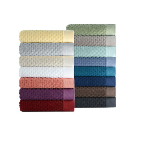 Better Homes & Gardens Thick and Plush Textured Bath Towel Collection, Bath Towel, Aquifer (Tan Body Towels)