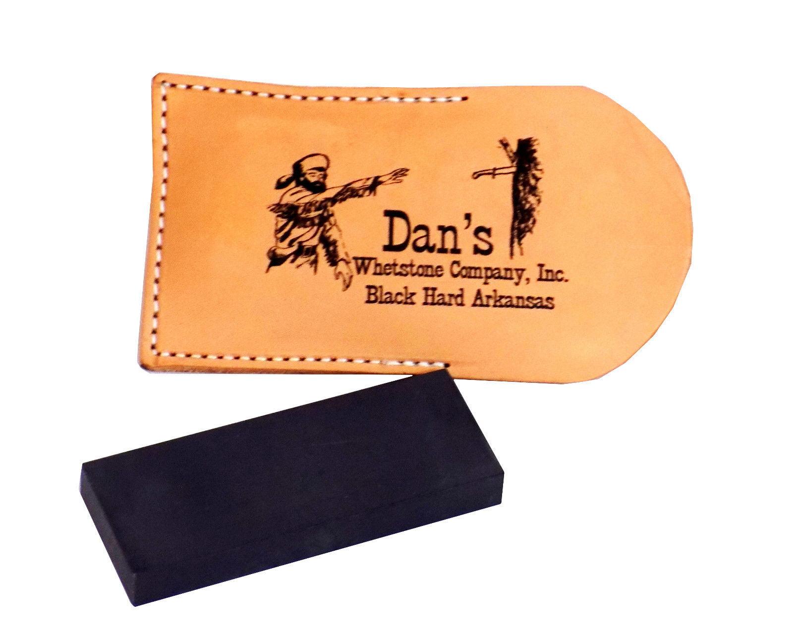 Dan's Whetstone Black Hard Arkansas Ultra Fine Pocket Knife Sharpening Stone Whetstone... by Dan's Genuine Arkansas