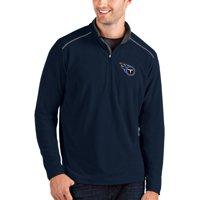 Tennessee Titans Antigua Glacier Quarter-Zip Pullover Jacket - Navy/Gray