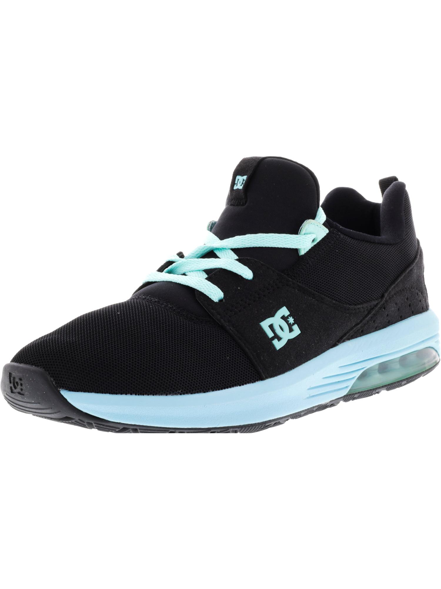 Dc Women s Heathrow Ia Black   Aqua Ankle-High Skateboarding Shoe 8fa7fe1bf7