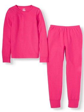 Fruit of the Loom Girls Midweight Super Soft Tec Waffle Thermal Underwear Set (Little Girls & Big Girls)
