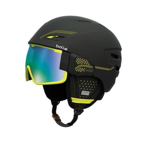 Bolle Osmoz Helmet, Black and Green with Green Emerald Lens, 54-58cm