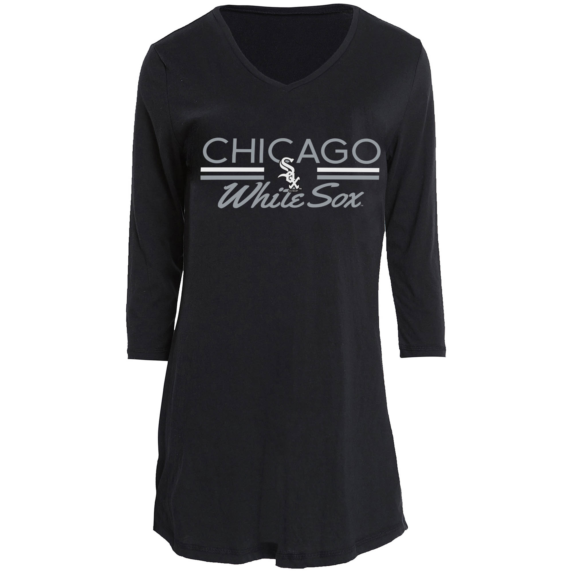 Chicago White Sox Concepts Sport Women's Duo V-Neck Nightshirt - Black