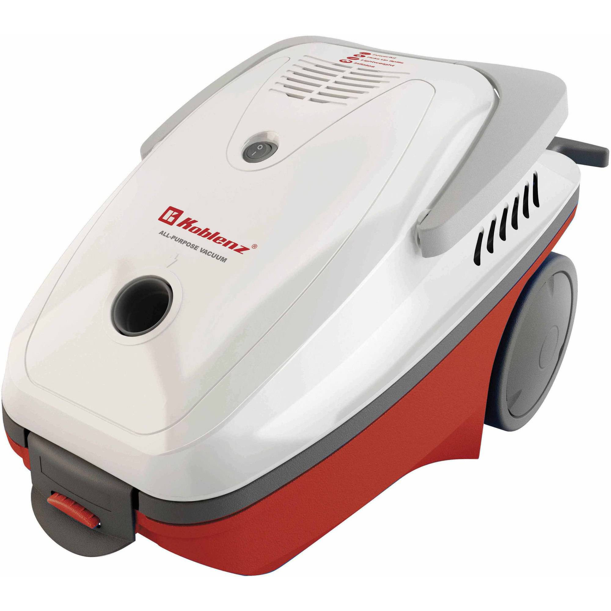 Koblenz All Purpose Canister Vacuum Cleaner, Red/White