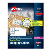 Avery WeatherProof Mailing Labels, 2