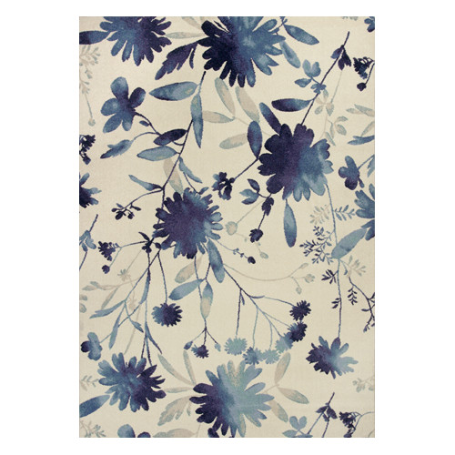 KAS Rugs Reflections Blue Watercolors Area Rug