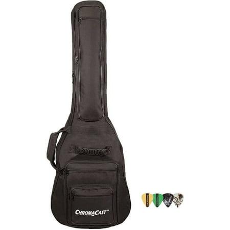 - ChromaCast 6-Pocket Electric Guitar Padded Gig Bag with Pick Sampler