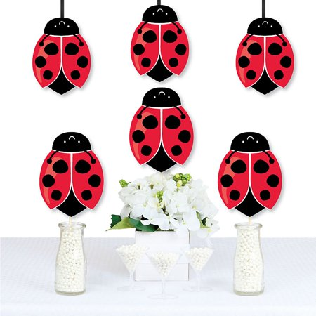 Happy Little Ladybug - Decorations DIY Baby Shower or Birthday Party Essentials - Set of 20  - Lady Bug Party