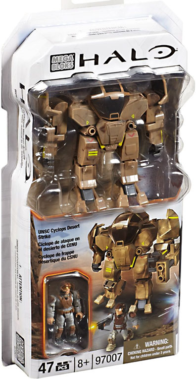 Halo UNSC Cyclops Desert Strike Set Mega Bloks 97007 by Generic