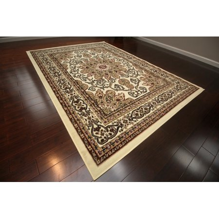 Isfahan Cream - New Generations Cream Ivory Oriental Traditional Isfahan Persian Area Rugs Rug 8023cream