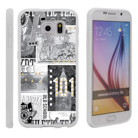 Samsung Galaxy S6 G920, Flexible Case [FLEX FORCE] Slim Durable TPU Sleek Bumper with Unique Designs - Egypt Pharaoh - Pharaoh Accessories