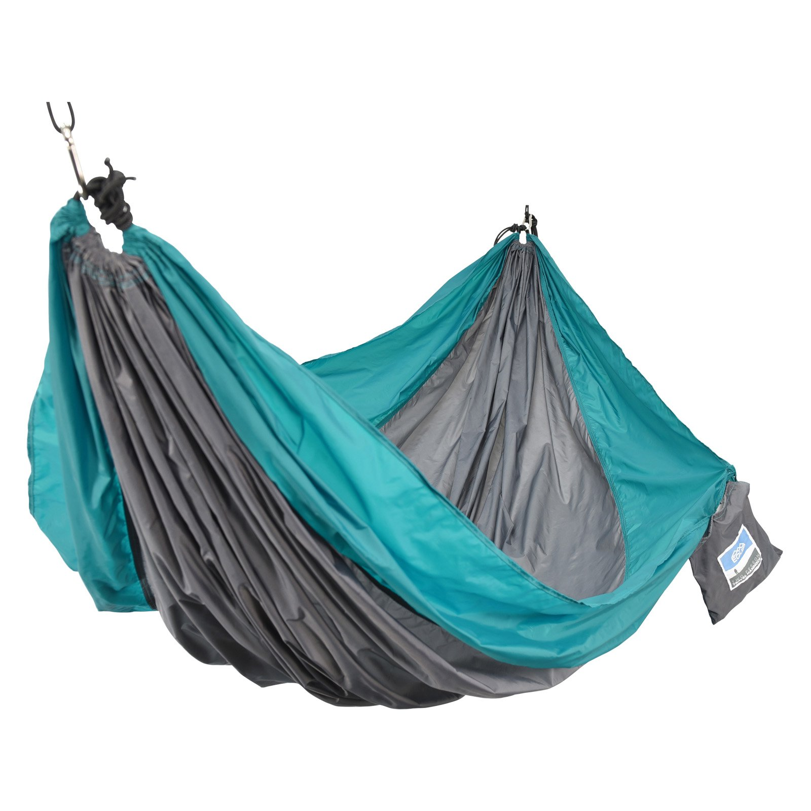 Denovo 96176 2 Person Travel Hammock - Teal and Gray