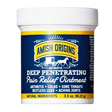 Amish Origins Deep Penetrating Pain Relief Ointment - 3.5
