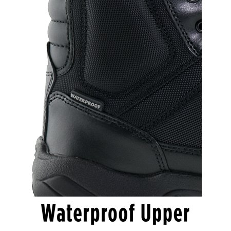 Interceptor Pilot Men's Zippered Tactical Work Boots, Slip Resistant, Waterproof, Black