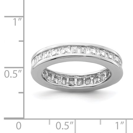 925 Sterling Silver Rhodium-plated Cubic Zirconia Eternity Band Ring - image 1 of 2