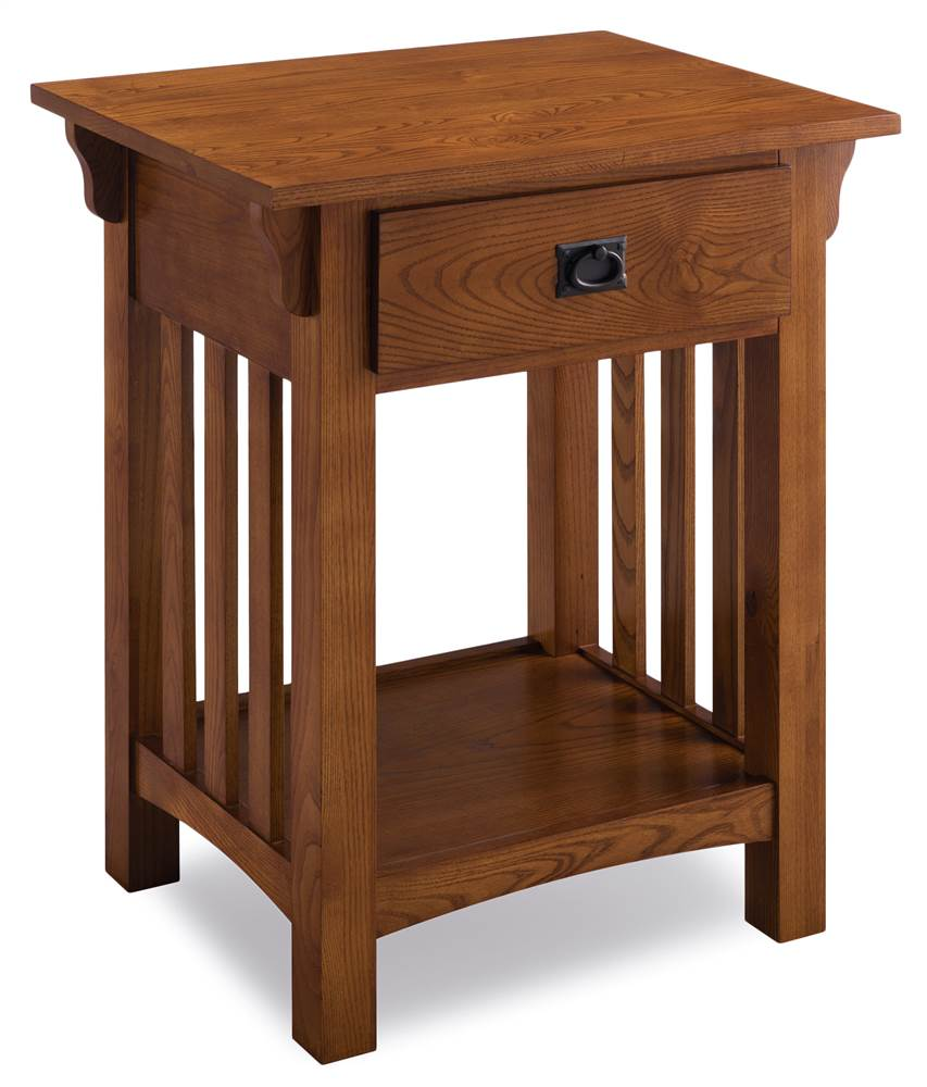 Leick Furniture 1 Drawer Mission Night Stand with Slat Sides by Leick Furniture