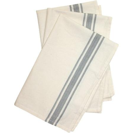 "Stitch 'Em Up Retro Stripe Towels 18""X28"" 3/Pkg-Gray Stripe - image 1 of 1"