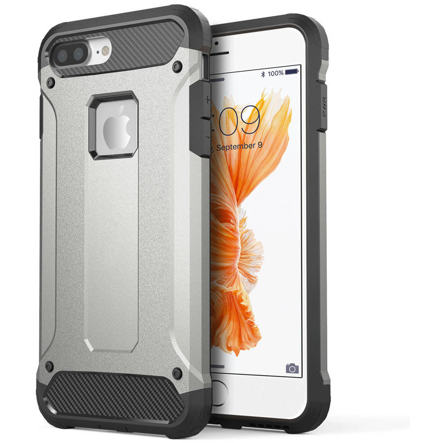 Apple iPhone 7 Plus Performance Dual Hybrid TPU Case, Grey