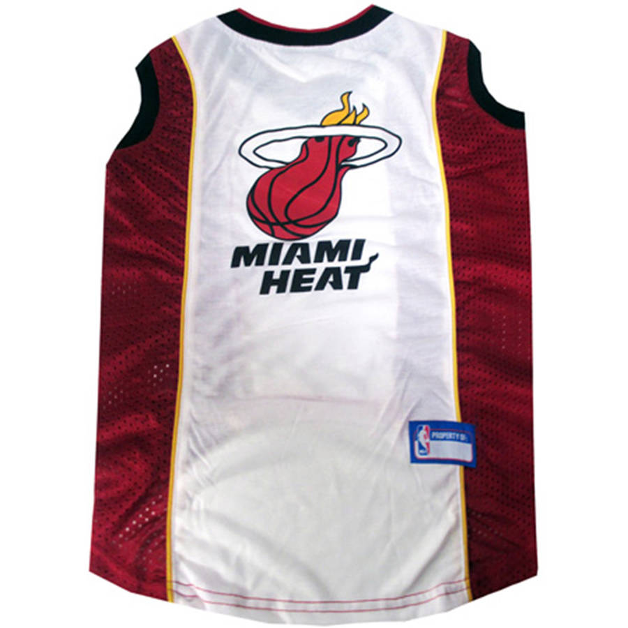 Pets First NBA Miami Heat Mesh Basketball Dog Jersey, Available in Various Sizes