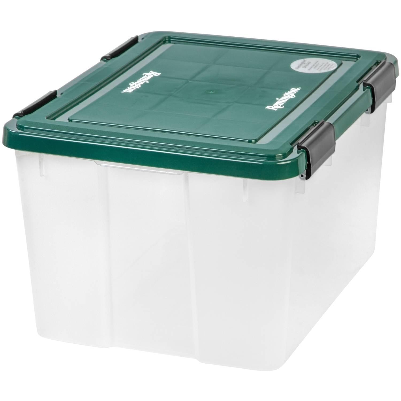 IRIS USA Remington 46 Qt. WEATHERTIGHT Plastic Storage Box, Green by IRIS USA, Inc.