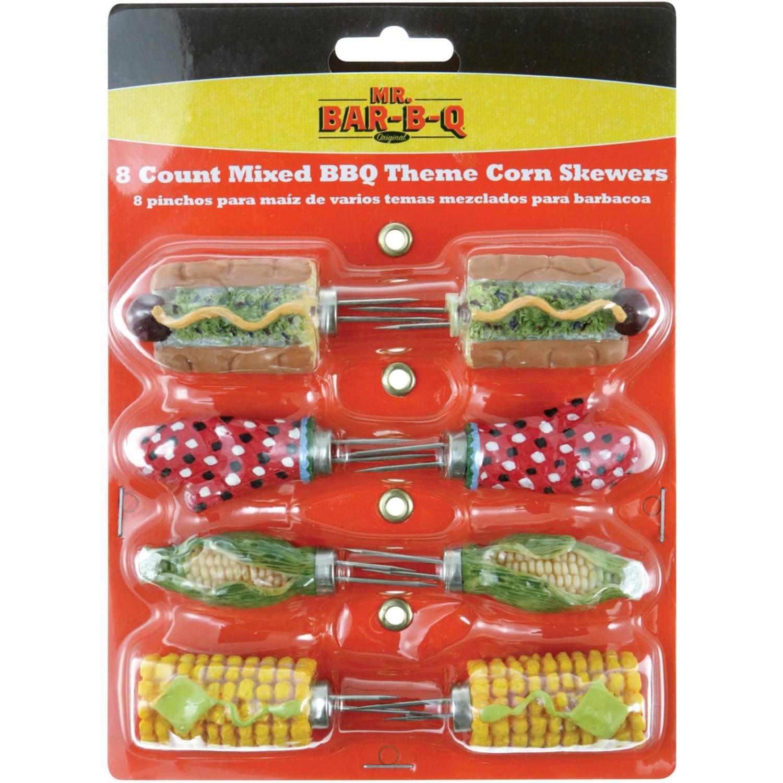 Mr. Bar-B-Q 4-Count Mixed BBQ Theme Corn Skewers