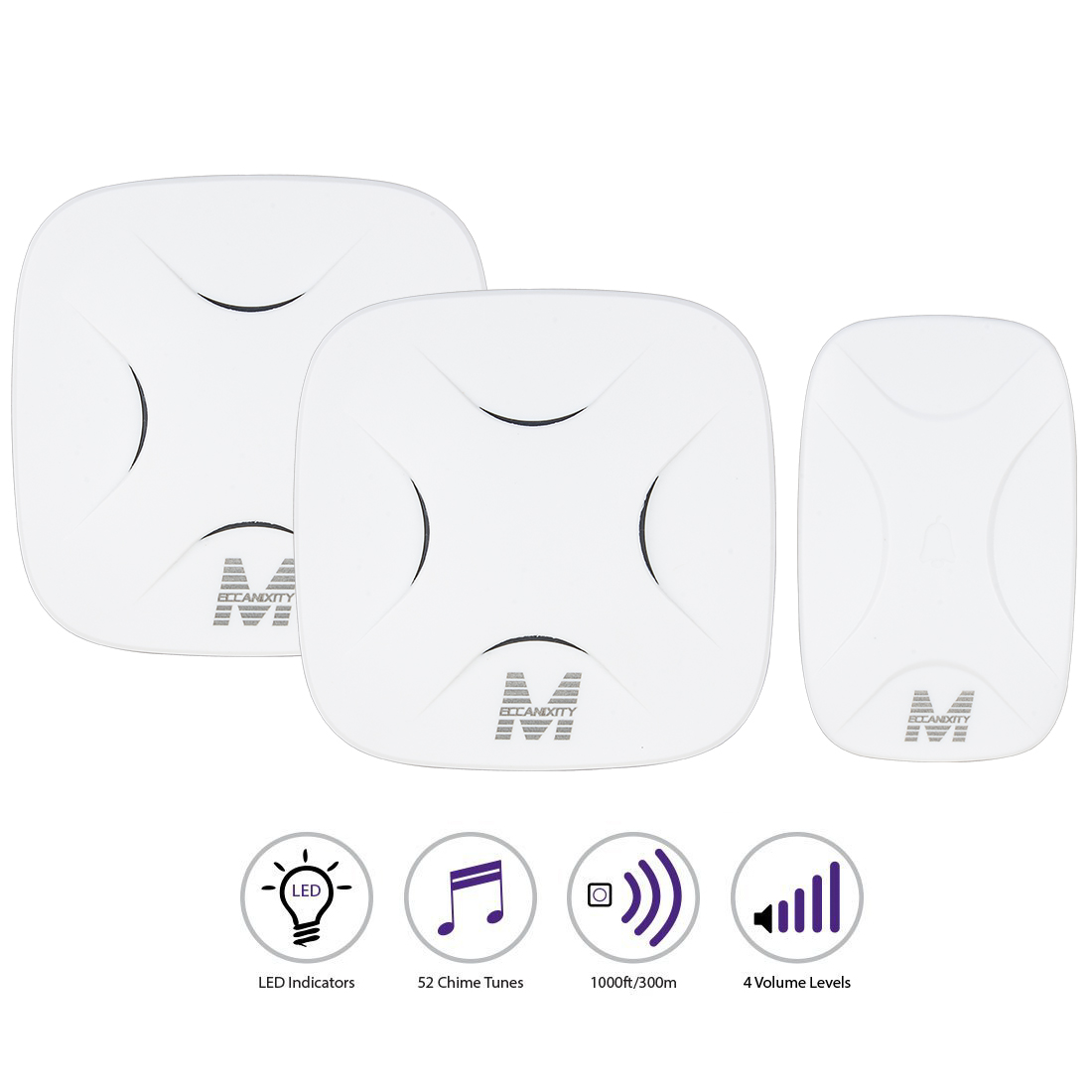 Meccanixity Us Plug In 52 Chimes Cordless Wireless Doorbell 2