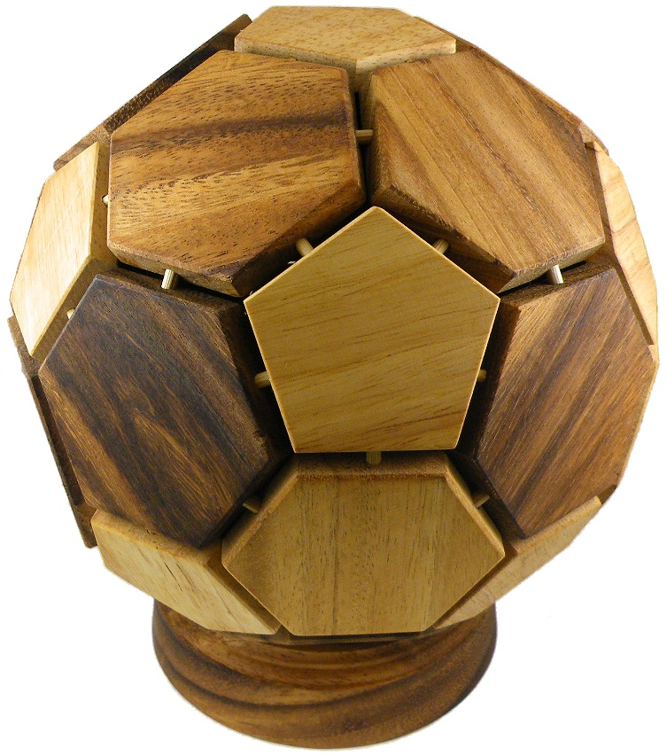 Mondial Soccer Ball 3D Wooden Puzzle Brain Teaser by