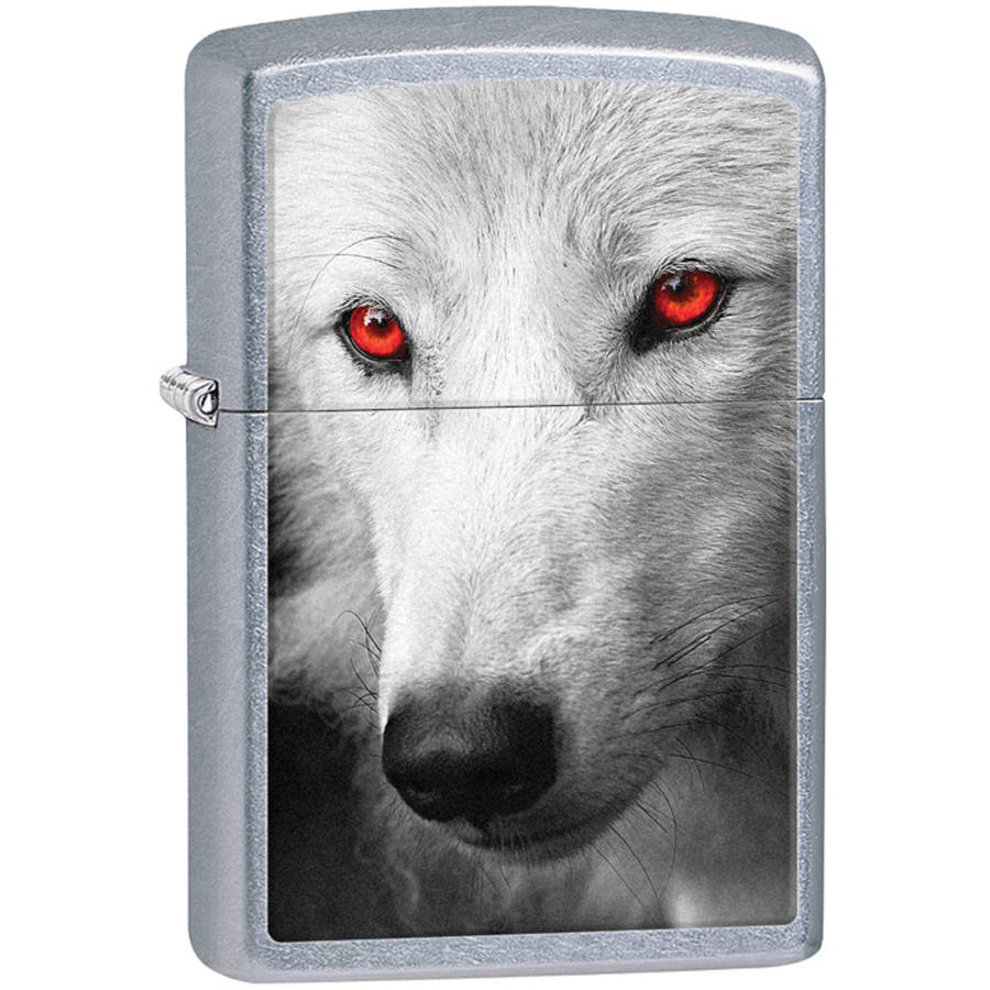 Zippo Classic Wolf with Red Eyes Lighter, 28877