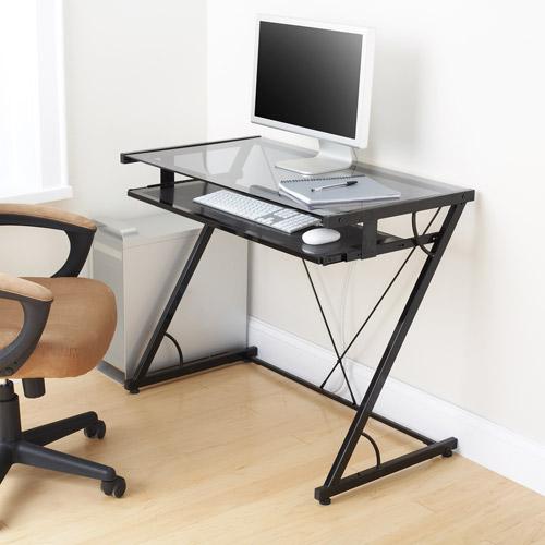 mainstays 3 piece home office bundle black. Mainstays Solar Glass-Top Desk, Black 3 Piece Home Office Bundle