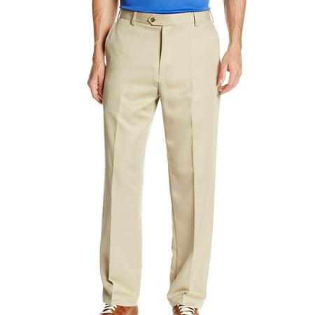 IZOD Mens 42X30 Classif-Fit Golf Flat Front Pants
