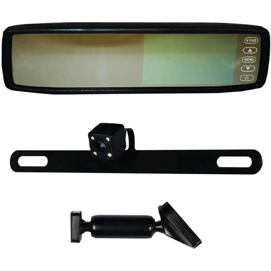 "iBEAM Te-rvmcir 4.3"" Replacement Rearview Mirror with IR LED Camera"