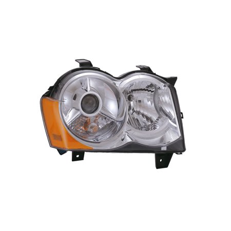 2008-2010 Jeep Grand Cherokee New Passenger Side HID Headlight (w/o Bulb and Ballast) CH2519129 - Jeep Grand Cherokee Lamp