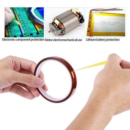 Cergrey 1 bande isolante résistante à la chaleur auto-adhésive à haute température de 10Roll * 30m pour pour PCB SMT, bande résistante à la chaleur, bande de BGA - image 4 de 7