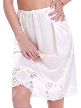 "Ilusion Women's Plus Size Half Slip Skirt 24"" Length"