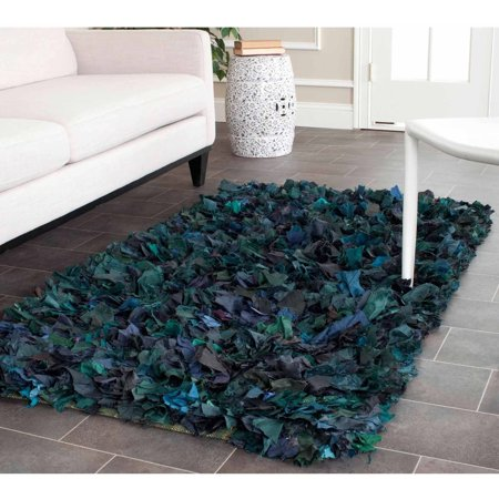 Comfort Shag Mint Green Rug - Safavieh Cassandra Hand Woven Shag Area Rug or Runner
