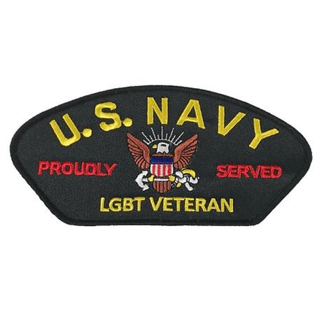 US NAVY LGBT LESBIAN GAY BISEXUAL TRANSGENDER PRIDE Proudly Served Veteran Patch