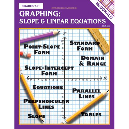 Graphing Slope & Linear Equations Reproducible Book, Teacher-created activities help to reinforce basic graphing skills By McDonald Publishing](Graphing Activities)