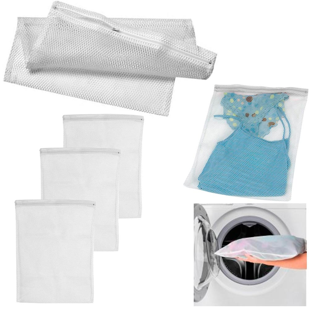 3 Set Protection Zipper Mesh Laundry Storage Wash Bag Bra Delicates Lingerie New